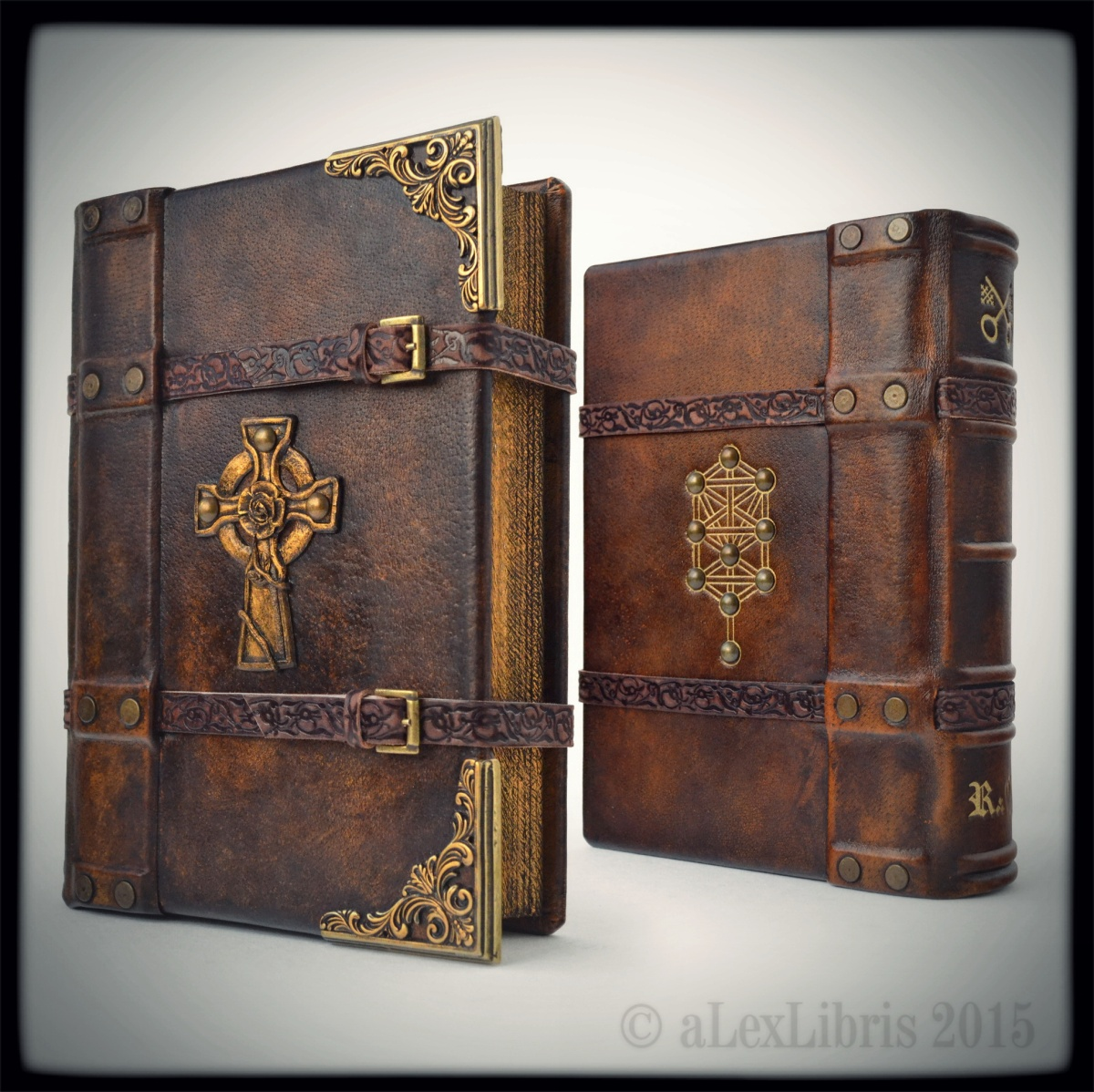 How To Make A Book Cover Out Of Leather : Rosicrucian journal… alexlibris